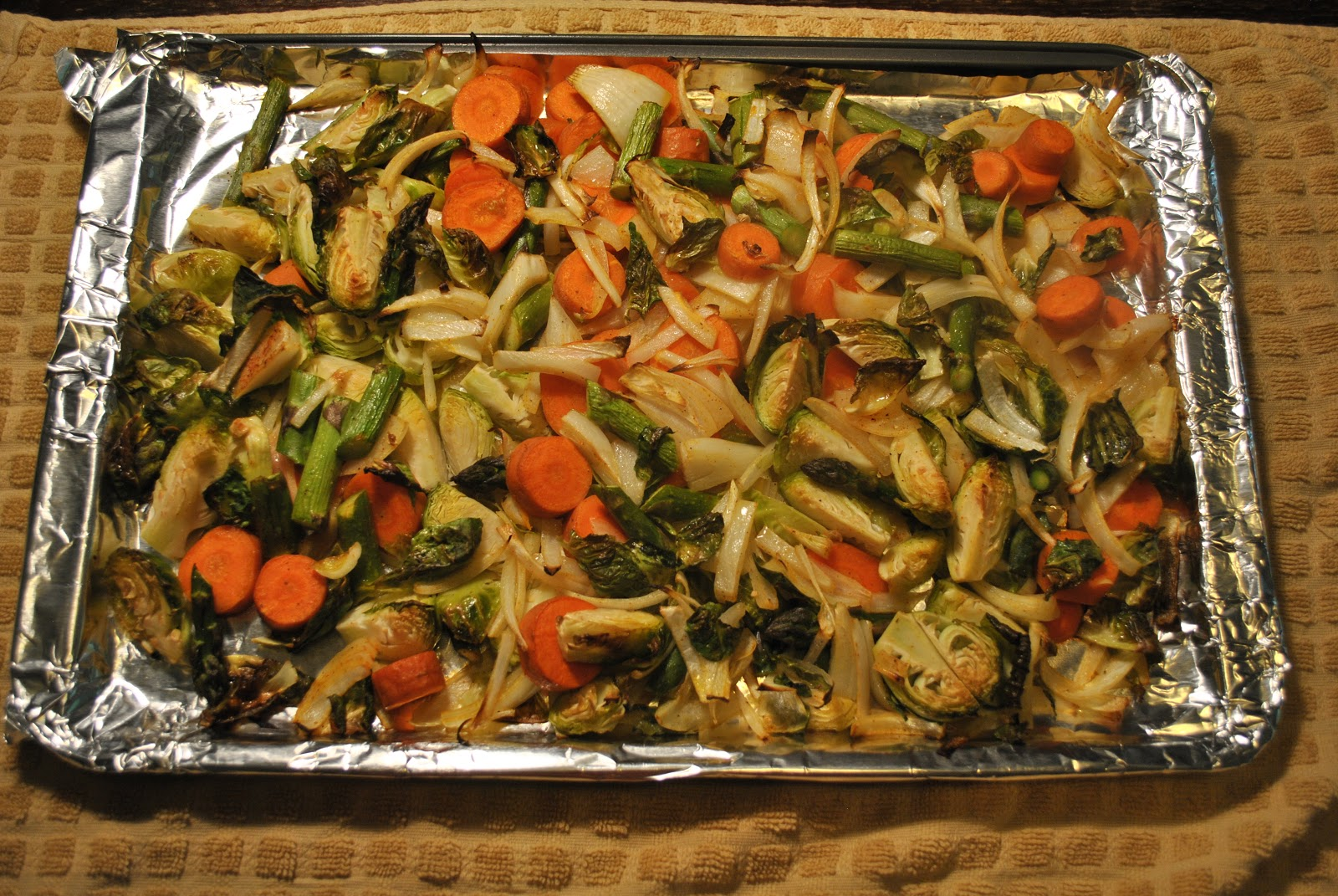 Veggies fully cooked and ready to eat